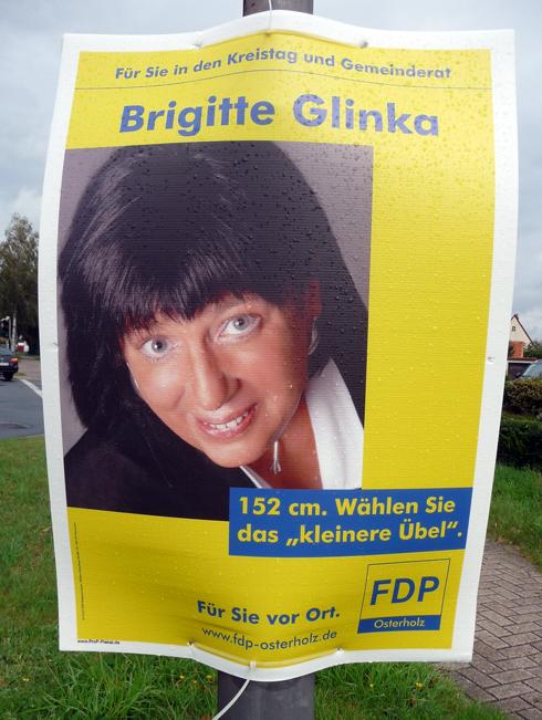 """FDP Brigitte Glinka: 152cm. Wählen Sie das """"kleinere Übel"""""""