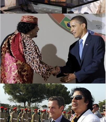 Muammar al-Gaddafi & friends