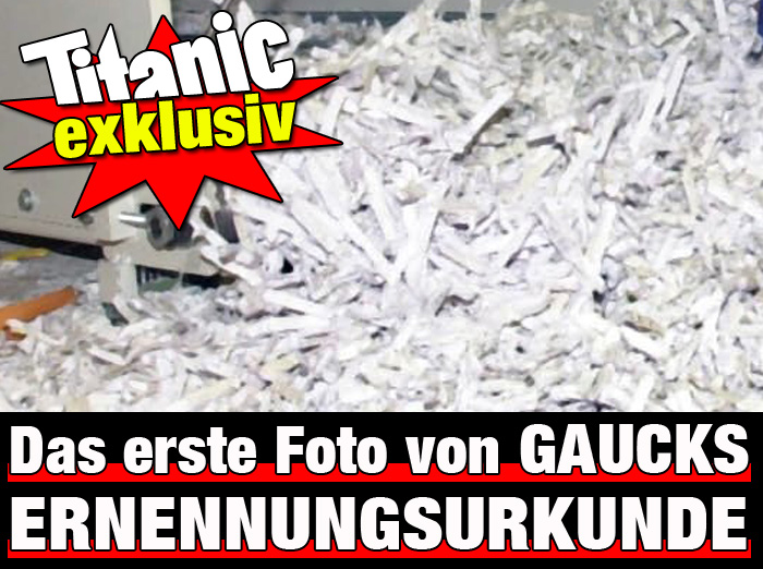 Gaucks Ernennungsurkunde (Originalfoto)