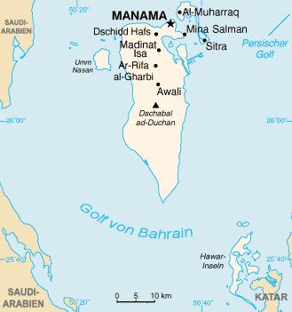 Karte von Bahrein