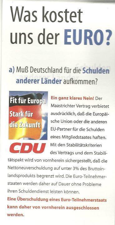 CDU und der Euro