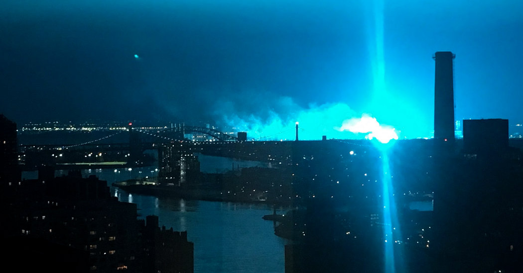 Transformer Explosion Turns New York's Sky Bright Blue, and Unnerves Its Residents