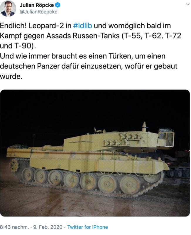 Deutsche Panzer werden laut BILD-Journalist Julian Röpke zur Unterstützung von Al Qaida und den Sauerland-Terroristen gebaut