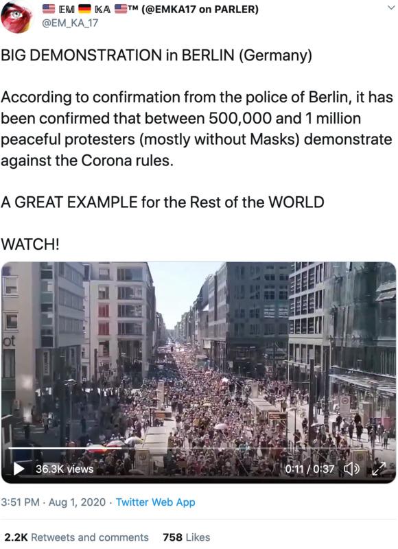 Nachrichten im Vergleich: die Demo heute in Berlin